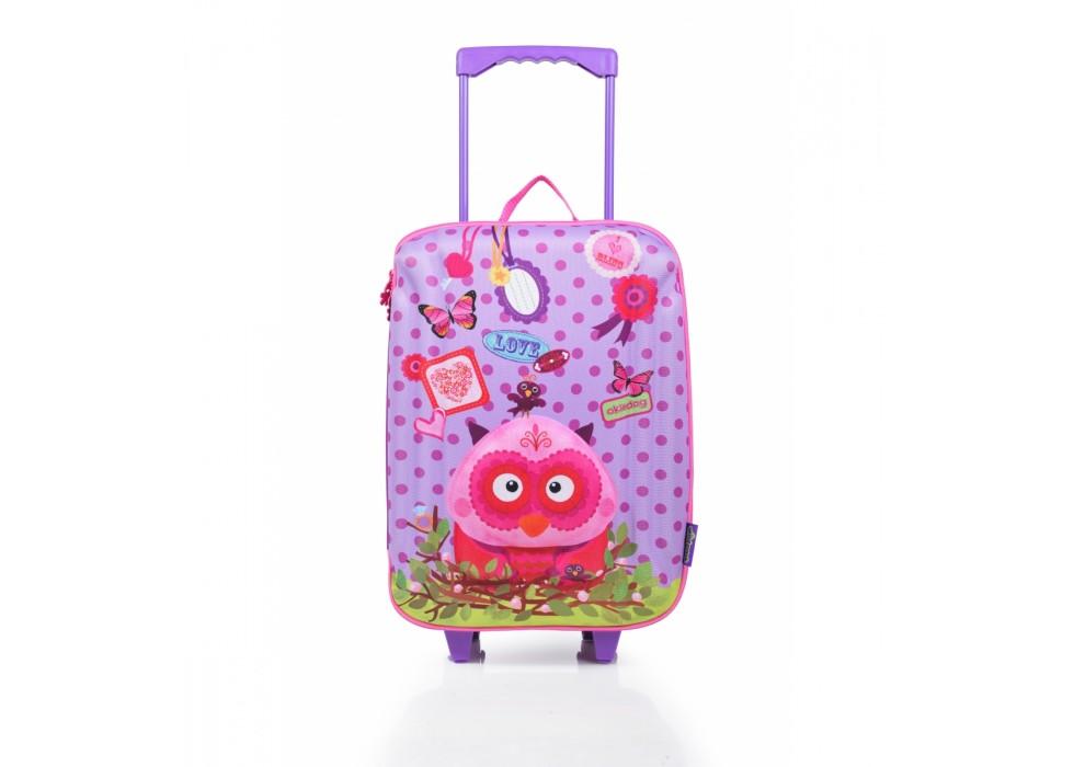 چمدان چرخدار بزرگ کودک اوکی داگ OkieDog مدل جغد Owl - کد 80161