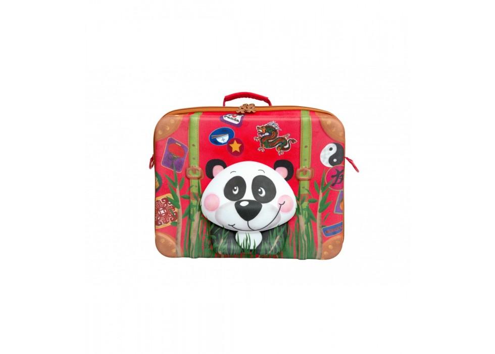 چمدان بی چرخ کودک اوکی داگ OkieDog مدل پاندا Panda - کد 80006