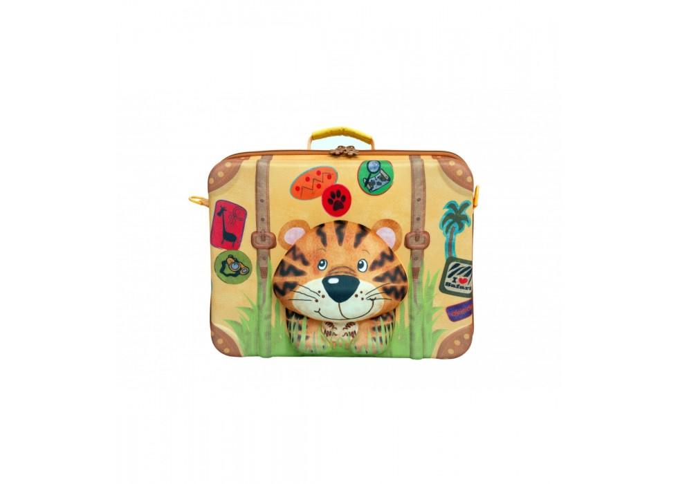 چمدان بی چرخ کودک اوکی داگ OkieDog مدل ببر Tiger - کد 80007