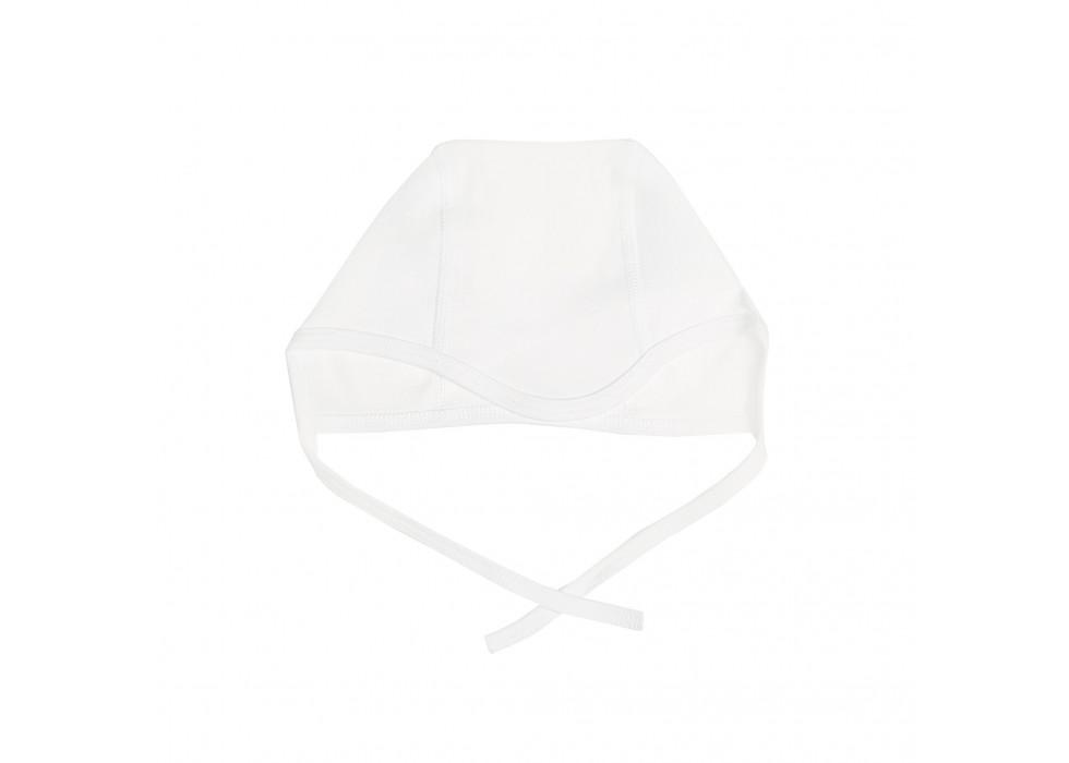 کلاه بندی نوزاد بی سی سی-BCC طرح سفید-White