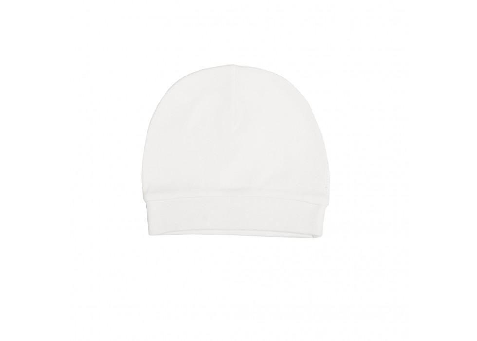 کلاه فانتزی نوزاد بی سی سی-BCC طرح سفید-White