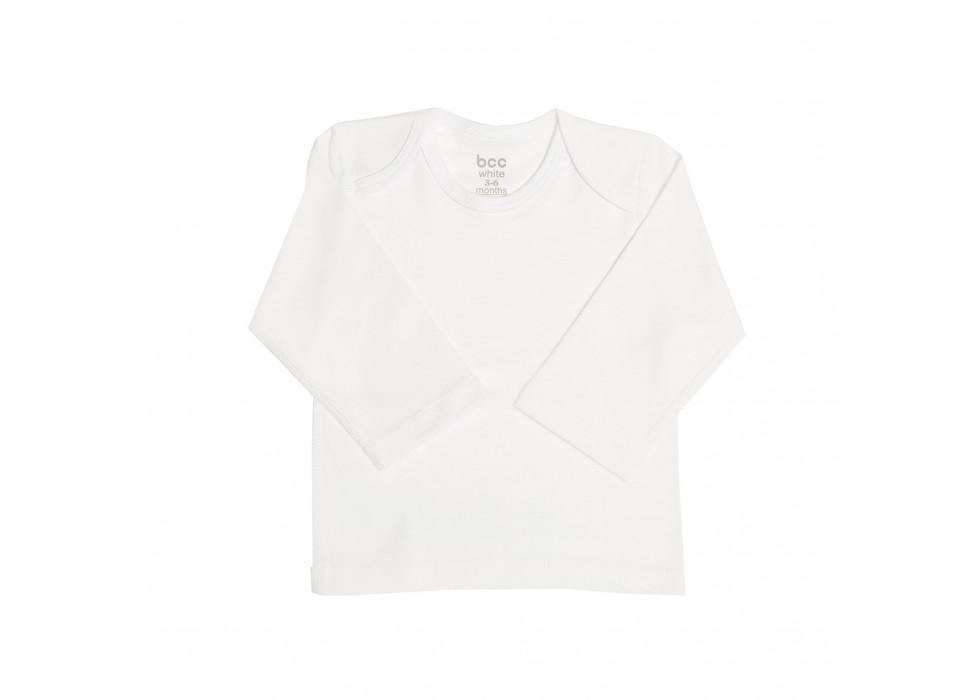 بلوز آستین بلند نوزاد بی سی سی-BCC طرح سفید-White