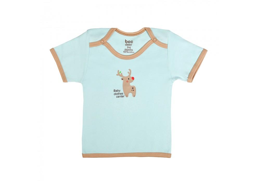 بلوز آستین کوتاه نوزاد بی سی سی - BCC طرح گوزن-Deer