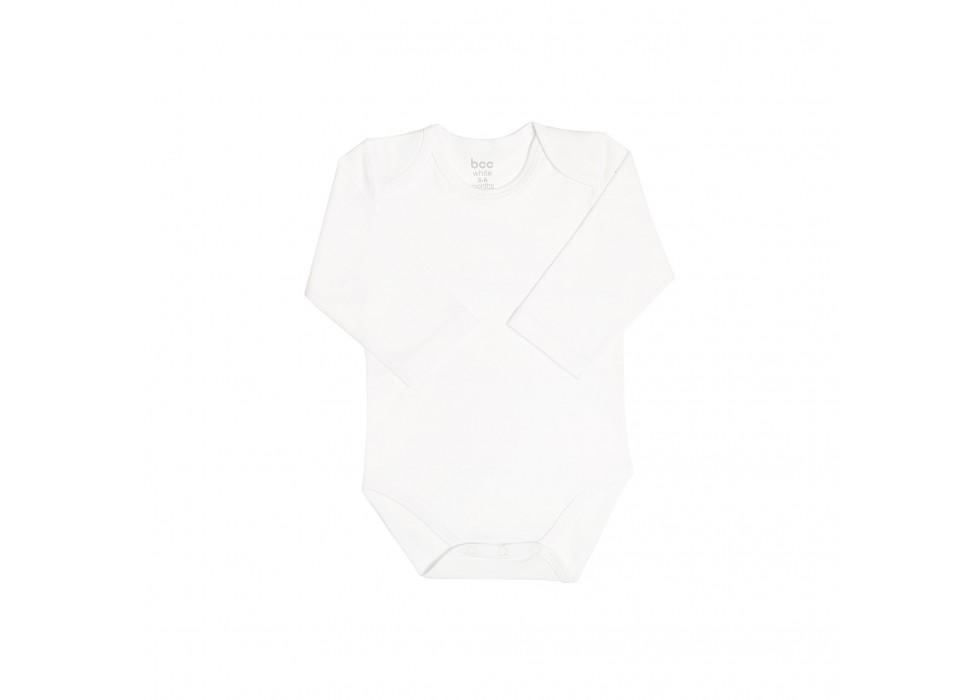 بادی آستین بلند نوزاد بی سی سی - BCC  طرح سفید-White