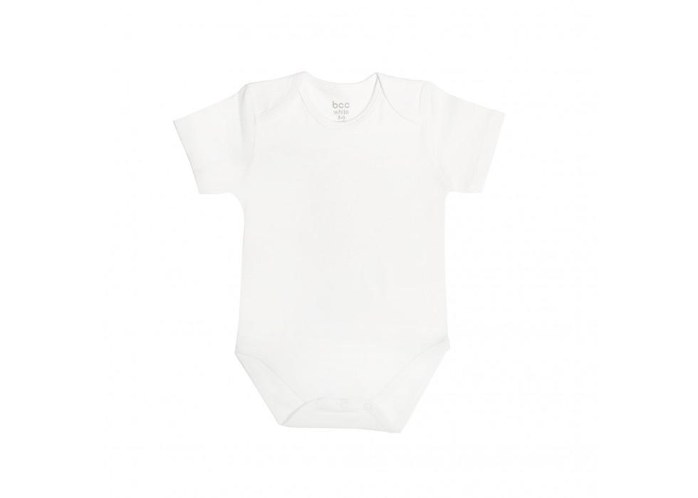 بادی آستین کوتاه نوزاد بی سی سی-BCC  طرح سفید-White