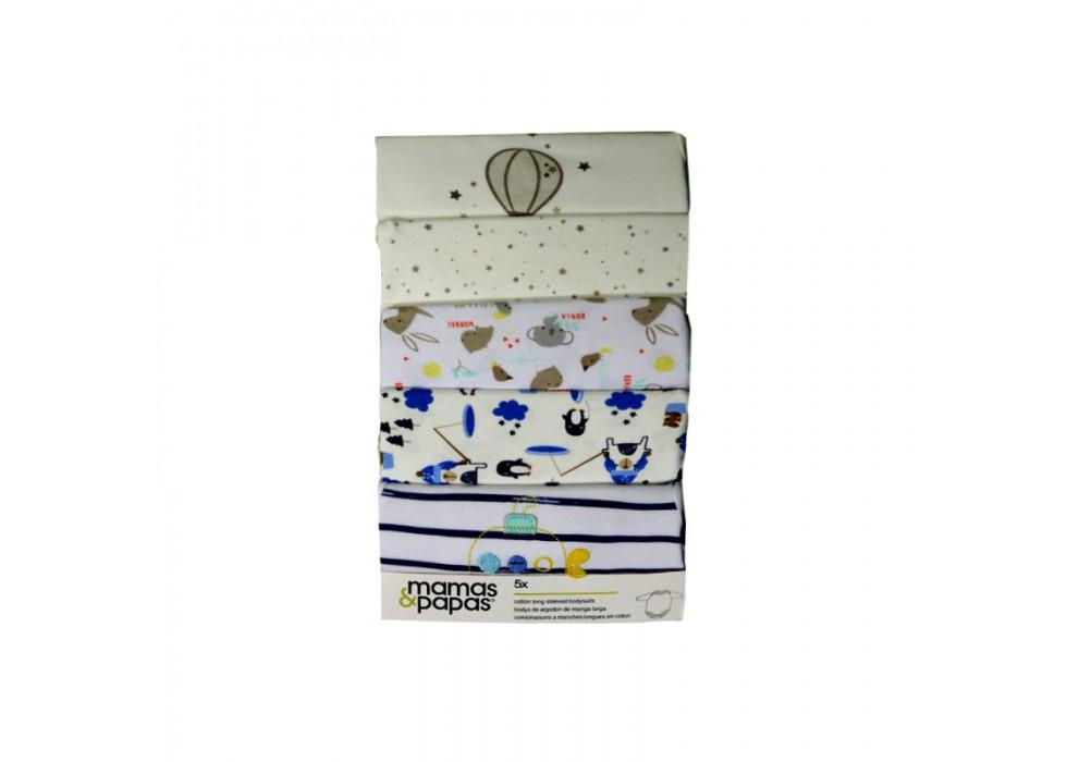 ست بادی 5 عددی زیر دکمه دار آستین بلند  ماماز پاپاز  مدل  mamas&papas _ 000068  KOALA