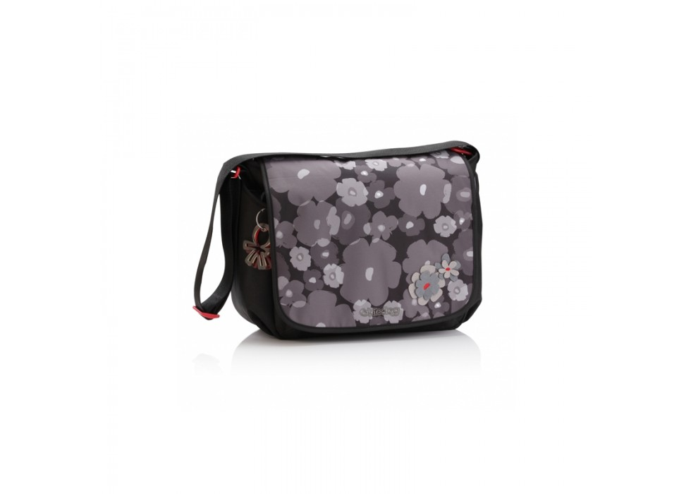 کیف لوازم گلدار مشکی طوسی برند OKIEDOG- کد28291