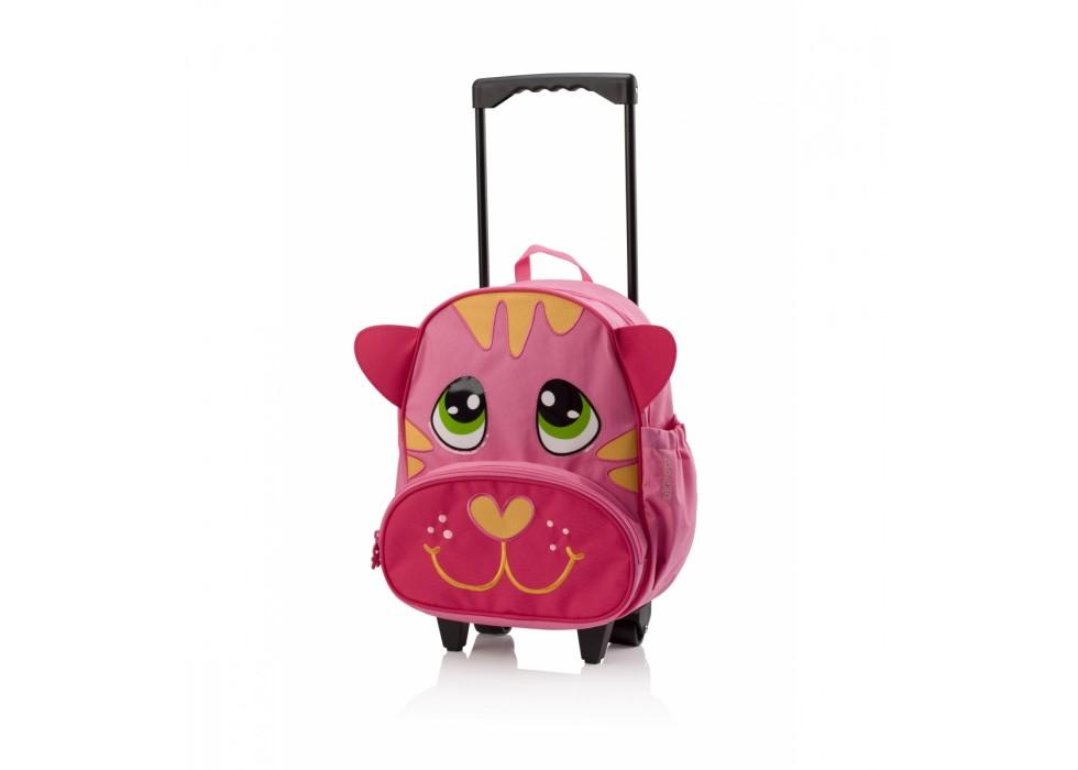 چمدان چرخدار بچگانه طرح گربه برند OKIEDOG کد  80064