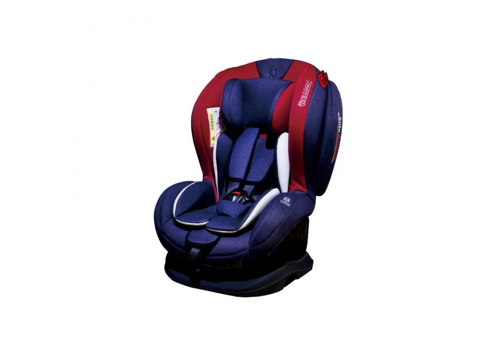 صندلی ماشین کودک_ BS01-SCE1 بدون تاج جین و قرمز ول دان WELLDON