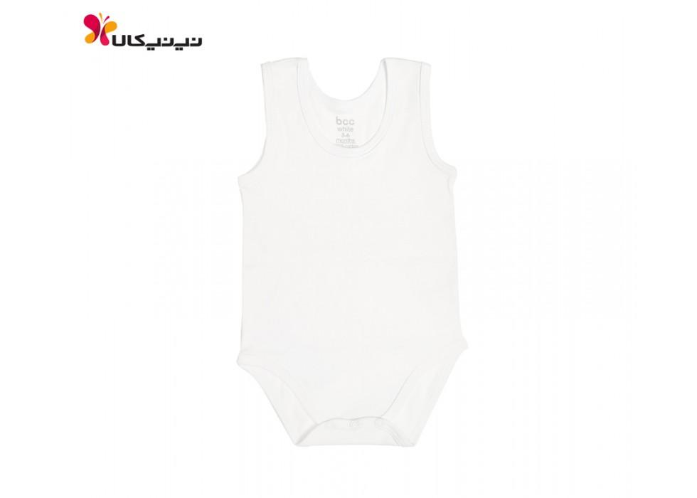 بادی رکابی نوزاد بی سی سی -BCC طرح سفید-White