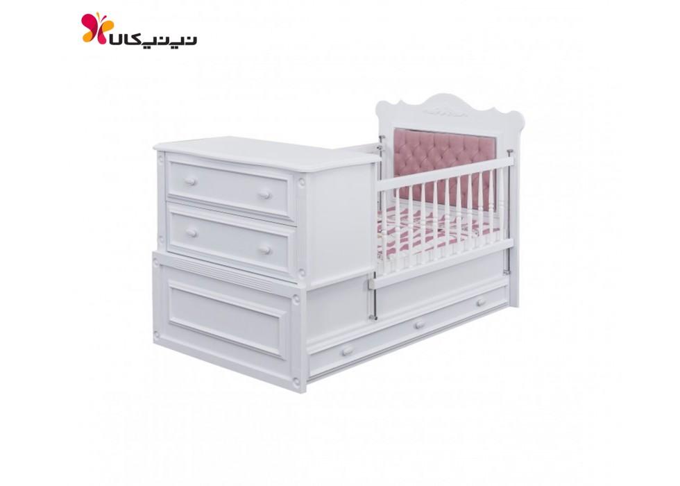 تخت خواب نوزاد و نوجوان بدون لمسه آپادانا مدل کویین