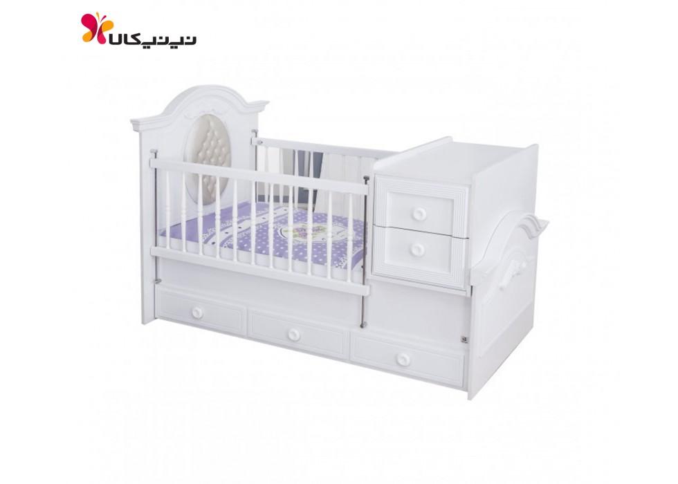 تخت خواب نوزاد و نوجوان بدون لمسه آپادانا مدل کلاسیک