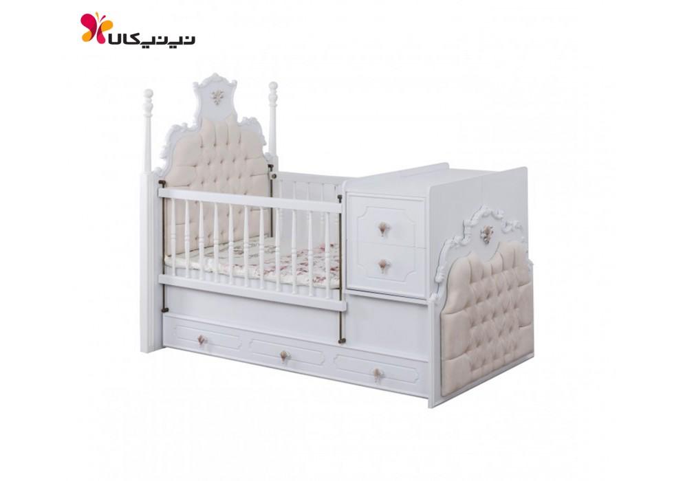 تخت خواب نوزاد و نوجوان آپادانا مدل روژین