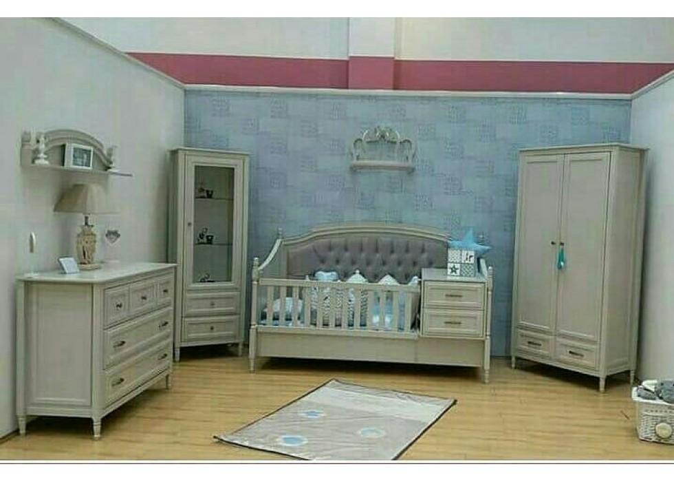 سرویس خواب چوبی نوزاد نوجوان مدل رمانتیک