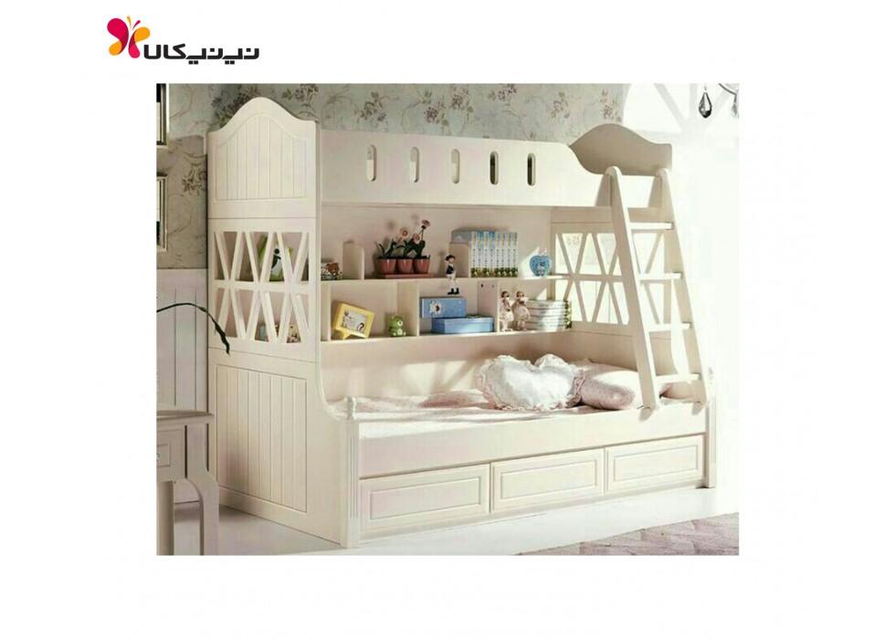 تخت دو طبقه نوزاد و نوجوان آمیسا مدل ارژن