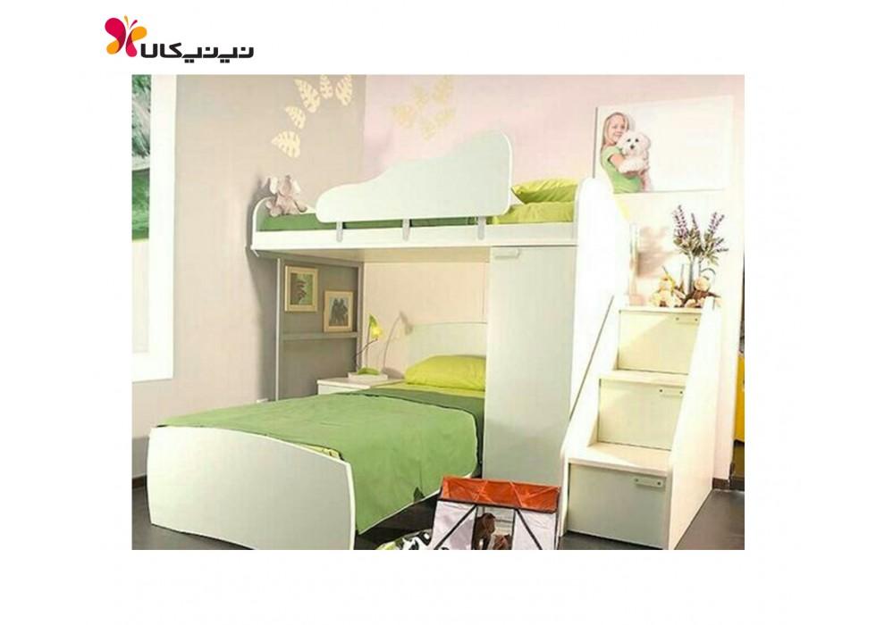 تخت دو طبقه نوزاد و نوجوان آمیسا مدل آرکان