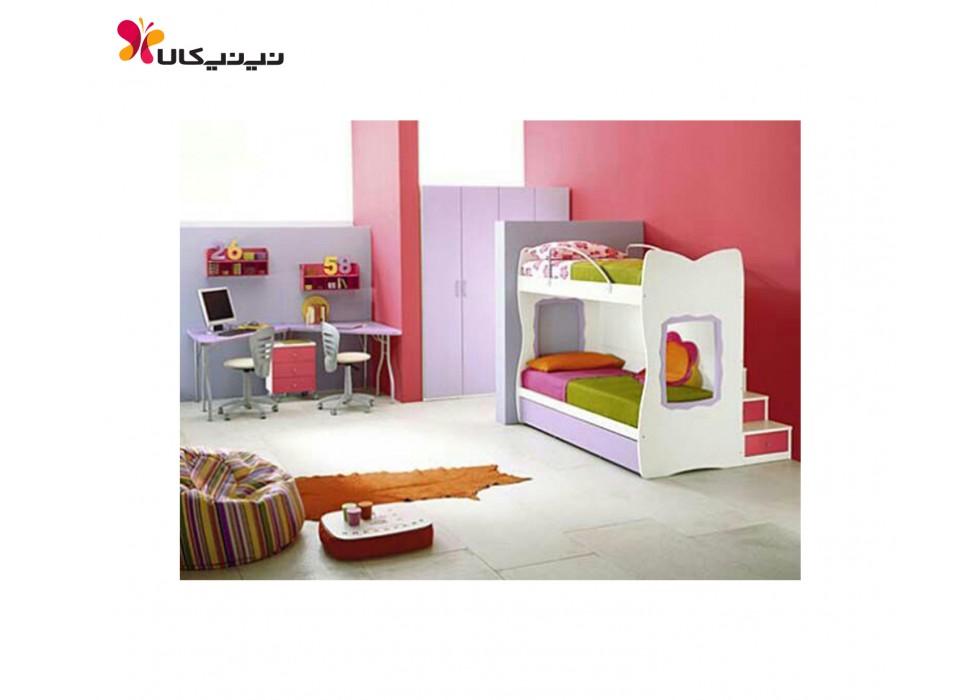 تخت دو طبقه نوزاد و نوجوان آمیسا مدل نیکی