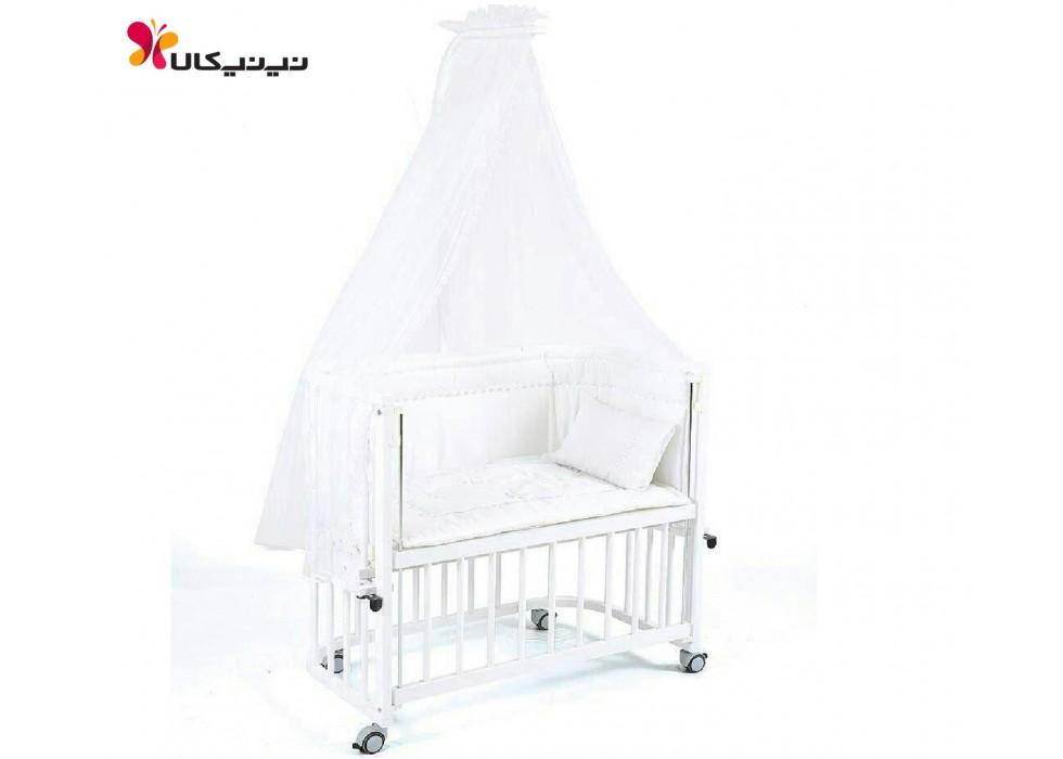 تخت نوزاد کنار مادر آمیسا-Amisa رنگ سفید