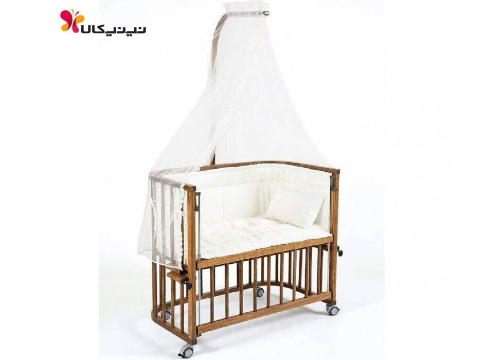 تخت نوزاد کنار مادر آمیسا-Amisa رنگ قهوه ای