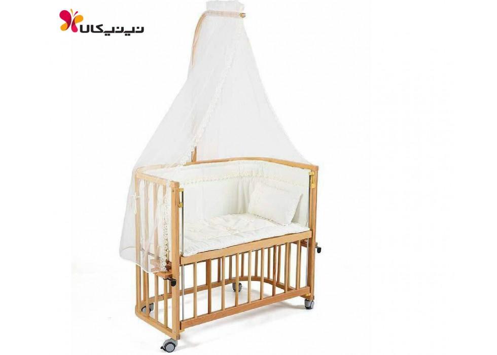 تخت نوزاد کنار مادر آمیسا-Amisa رنگ چوب