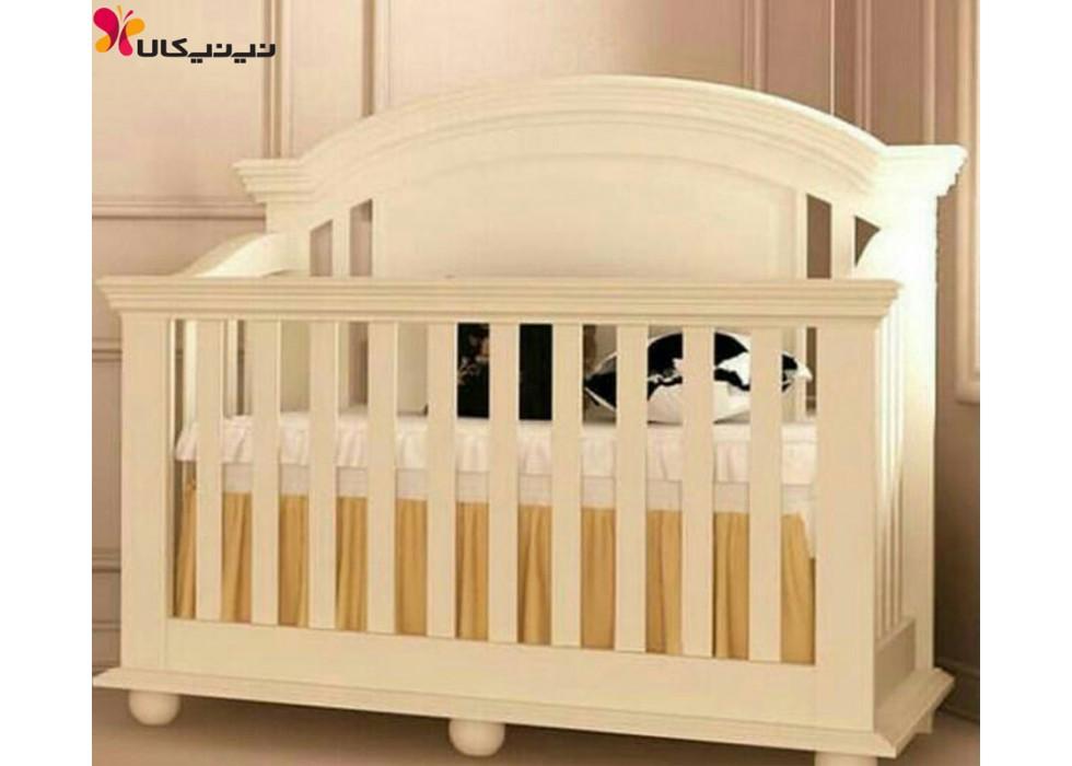 تخت چوبی نوزاد آمیسا مدل ویکتوریا