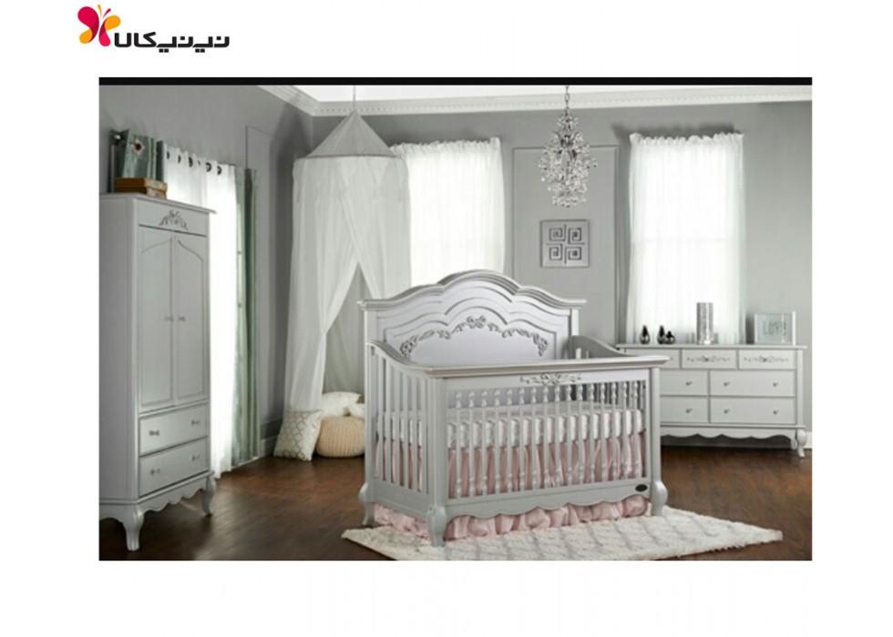 سرویس خواب چوبی نوزاد آمیسا مدل انزو