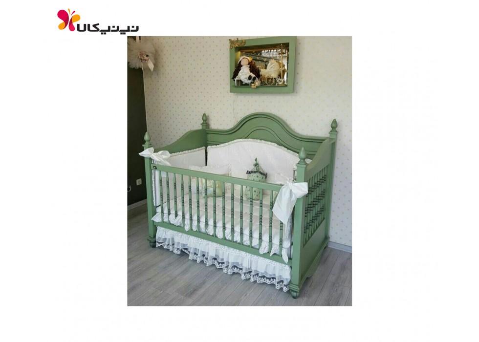 تخت چوبی نوزاد آمیسا مدل پونا