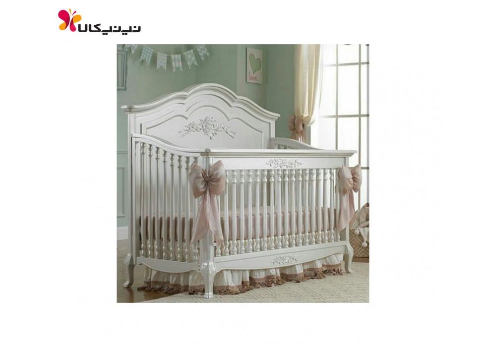 تخت چوبی نوزاد آمیسا مدل مایا