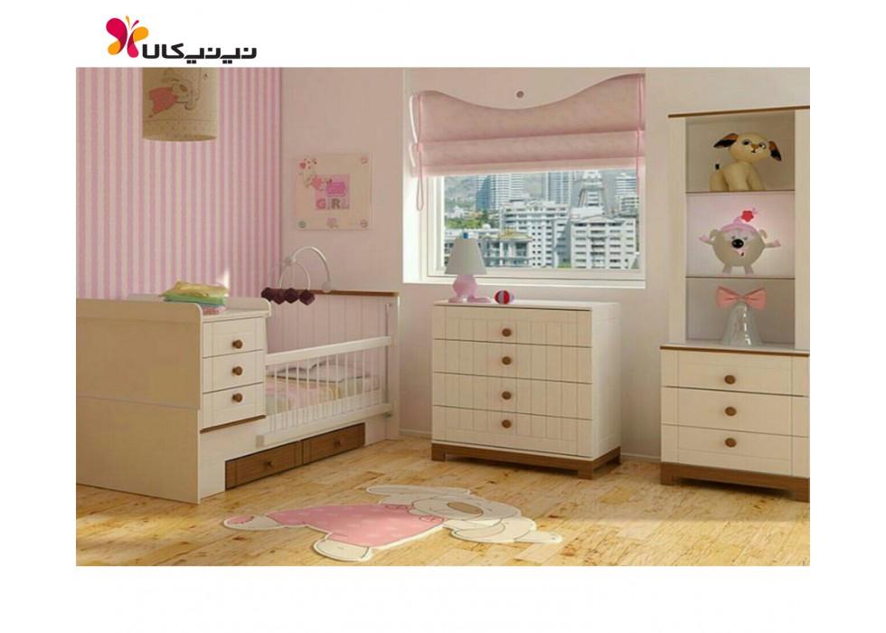 سرویس خواب 3 تکه نوزاد و نوجوان مدل یسنا