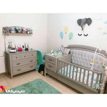سرویس خواب سه تکه چوبی نوزاد نوجوان مدل رمانتیک