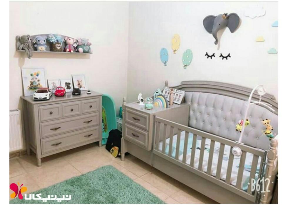 سرویس خواب سه تکه چوبی نوزاد نوجوان مدل نیو رویال