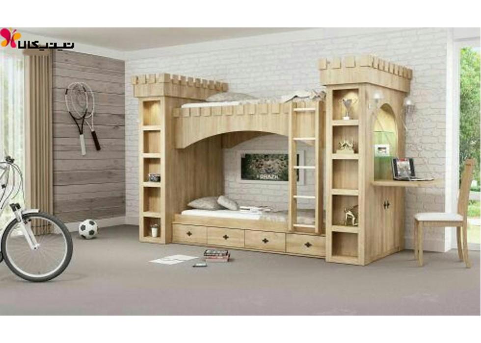 تخت دو طبقه کودک مدل قلعه