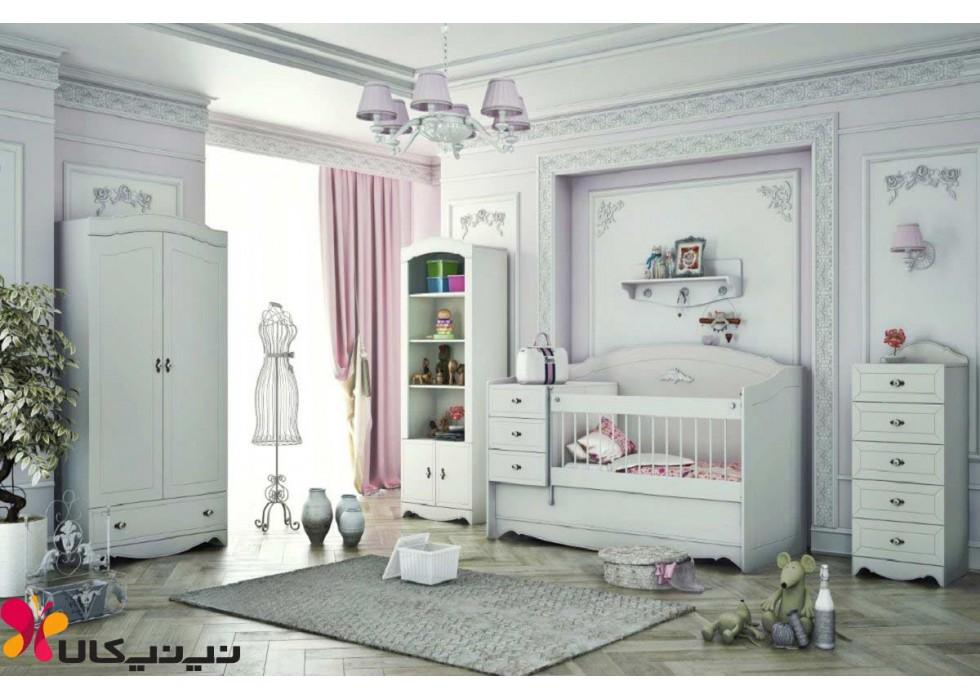 سرویس خواب نوزاد نوجوان آمیسا مدل عسل