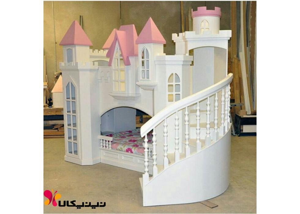 تخت دو طبقه کودک آمیسا مدل سیندرلا |