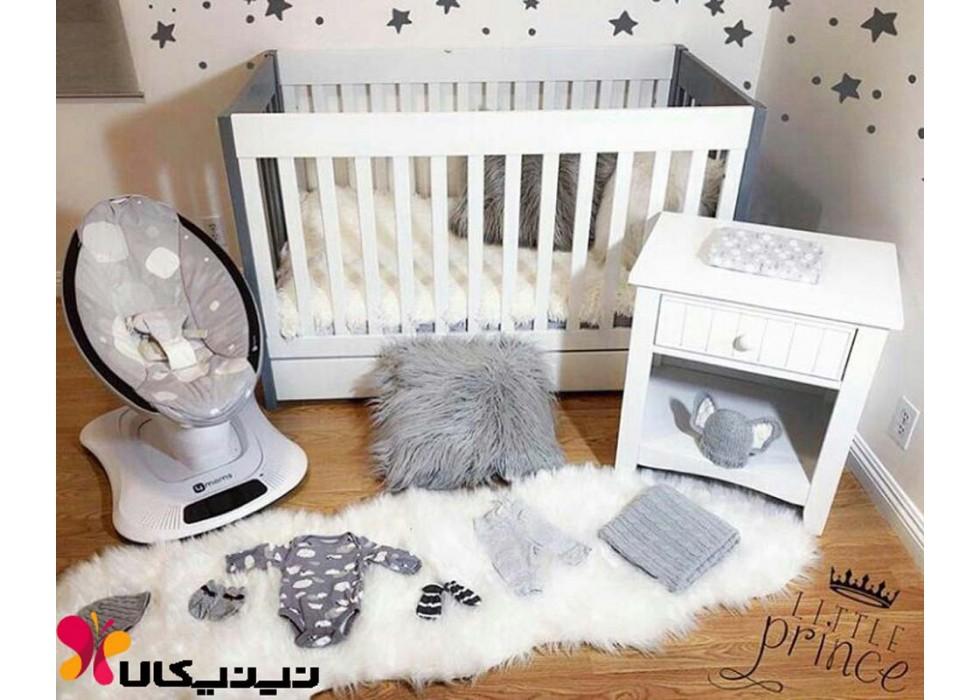 تخت و پاتختی نوزاد آمیسا مدل مامارو