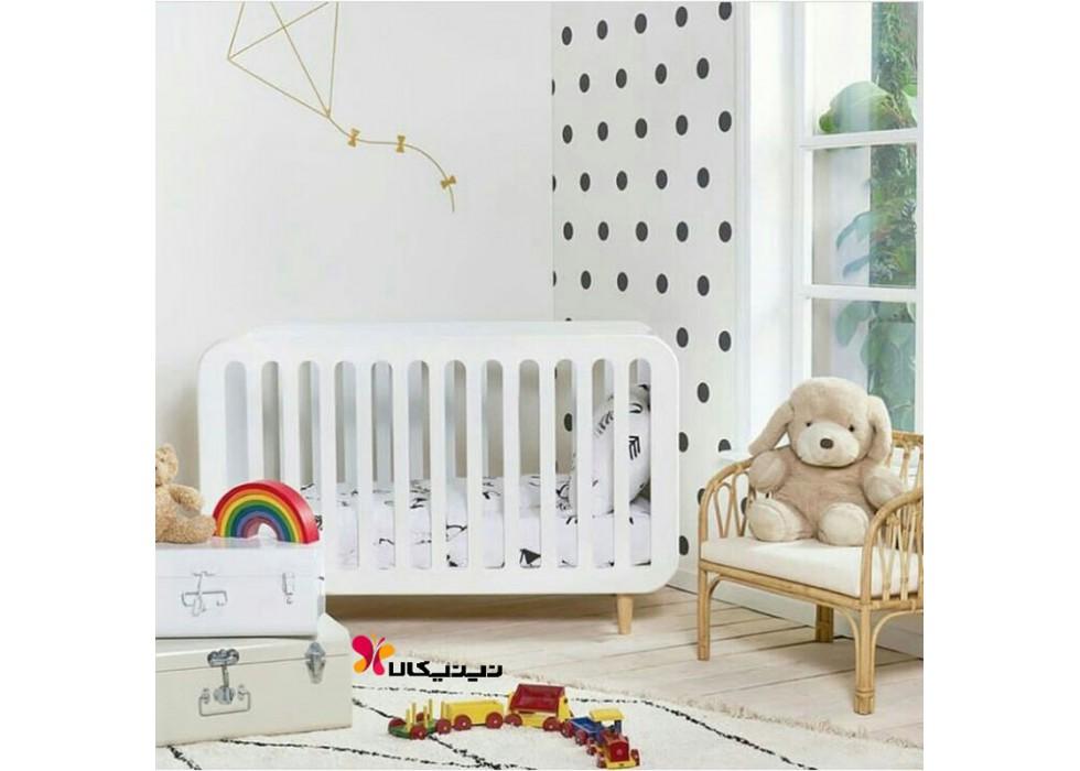 تخت نوزاد آمیسا مدل رزالین