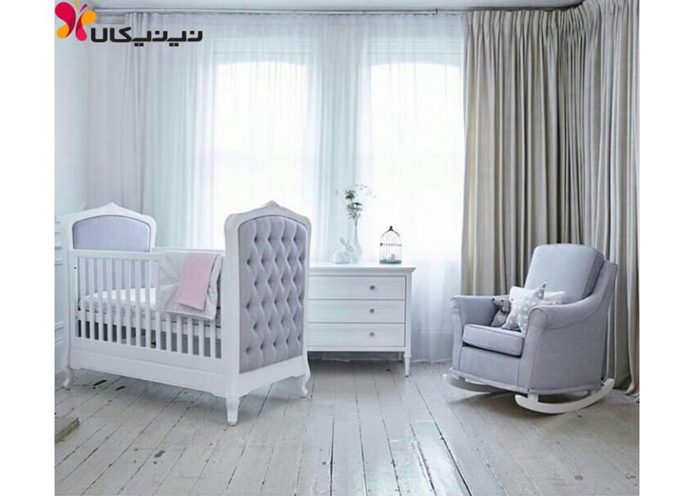 تخت و دراور نوزاد آمیسا مدل نیو رویال