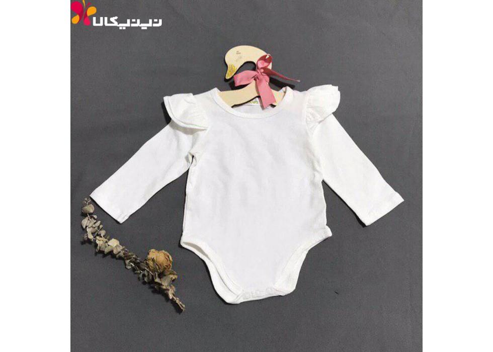 بادی نوزادی دخترانه سان ژی مدل سفید