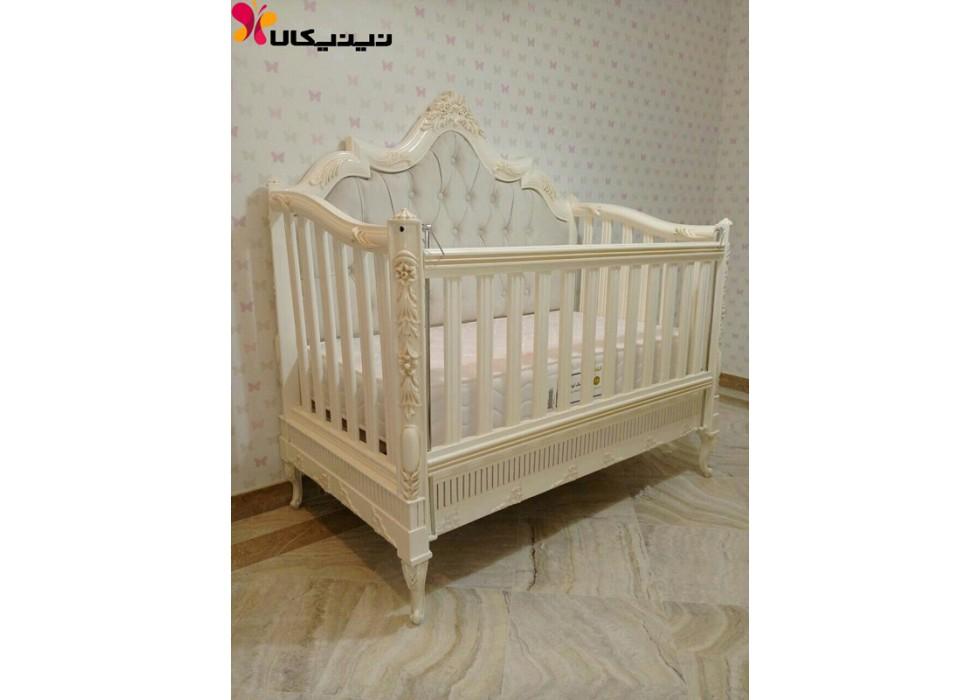 سرویس خواب نوزاد تمام چوب آمیسا مدل گلوریا