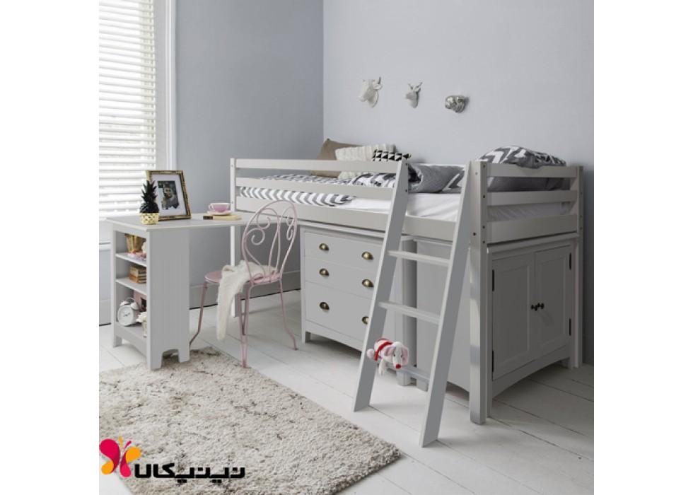 سرویس تخت و میزتحریر نوجوان آمیسا مدل آریستا