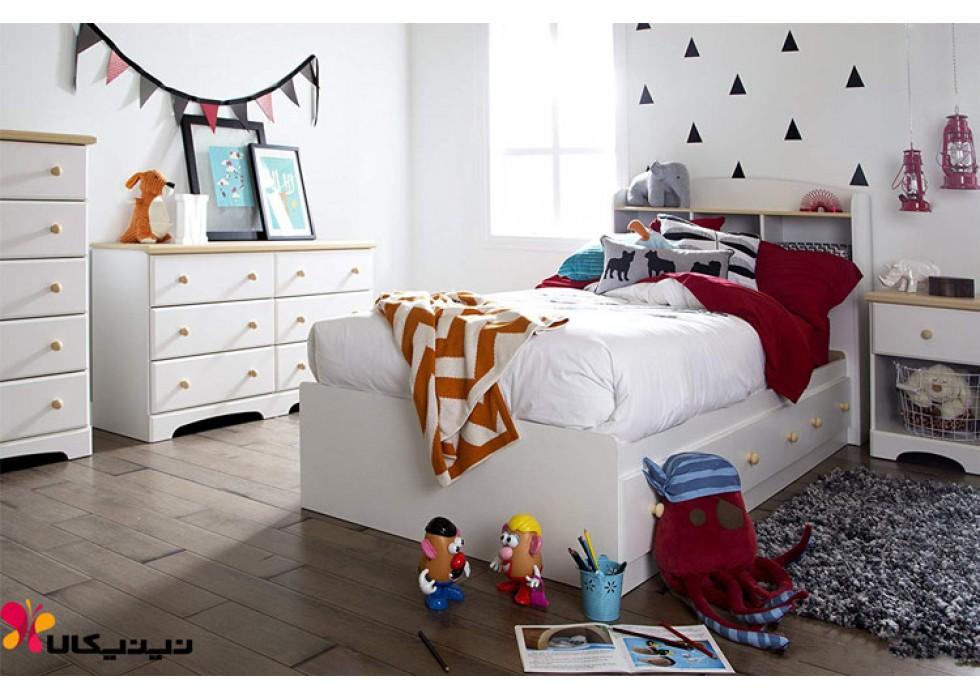 تخت و دراور کودک و نوجوان آمیسا مدل هومان