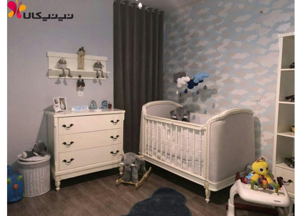 سرویس خواب چوبی نوزاد آمیسا مدل جیحون
