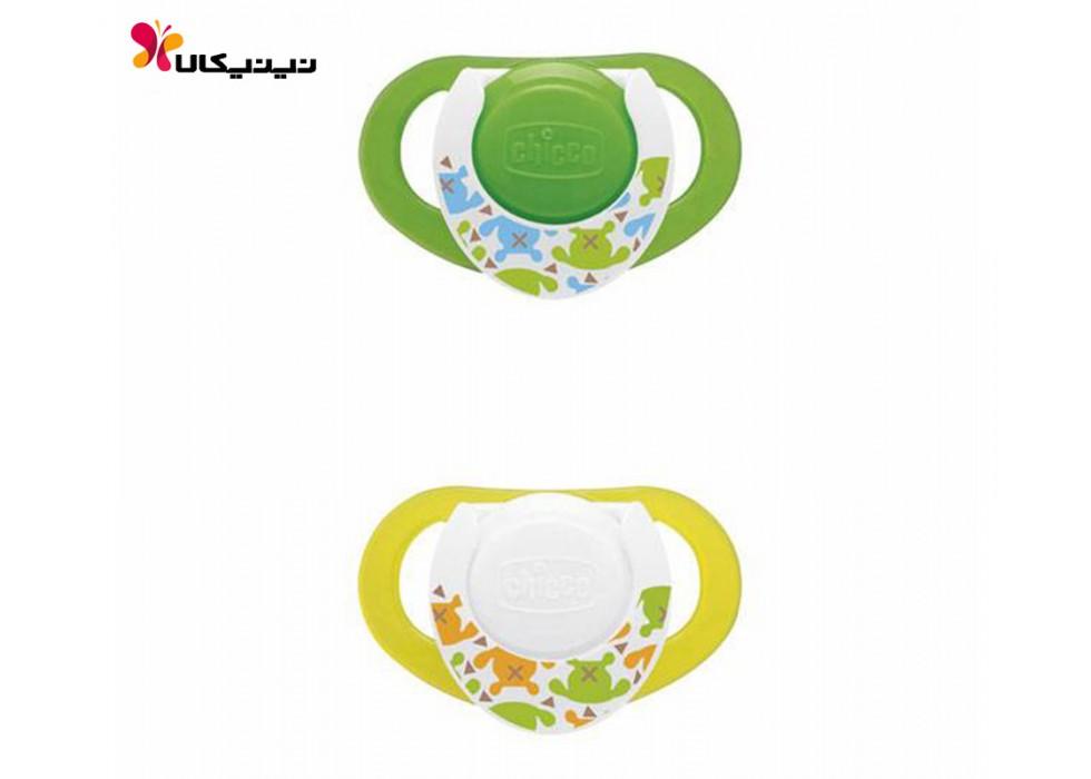 پستانک سیلیکونی شبرنگ نوزاد چیکو-Chicco مدل فیزیو 4+ ماه
