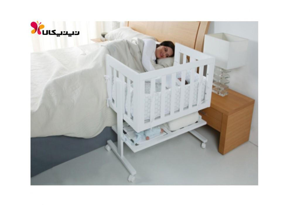 تخت نوزاد کنار مادر آمیسا مدل هانا