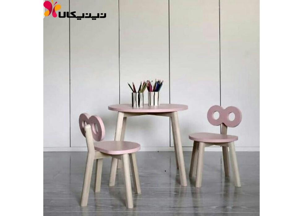 میز و صندلی کودک آمیسا مدل کوکی