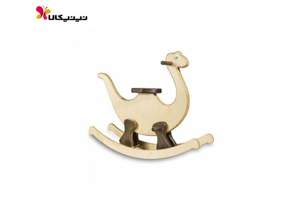 راکر چوبی کودک آمیسا مدل دایناسور