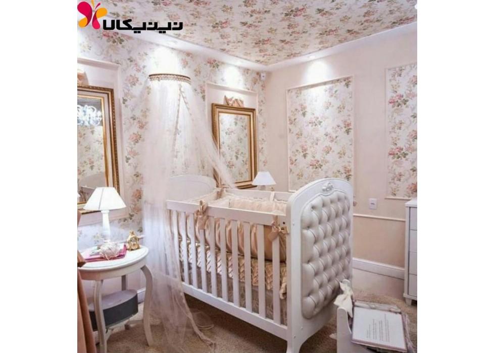 تخت چوبی نوزاد آمیسا مدل سلینا