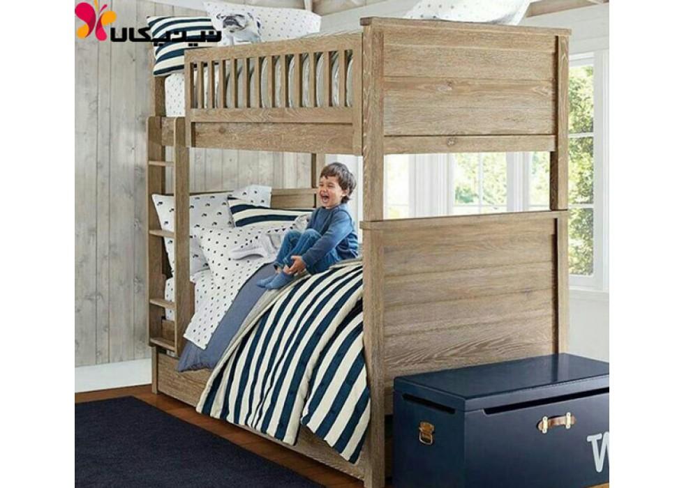 تخت دو طبقه کودک آمیسا مدل ساتا