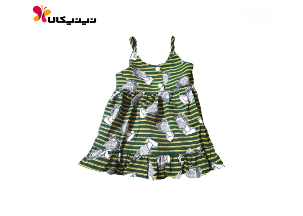 پیراهن بچه گانه طرح رکابی سوییت کیدز-SweetKids رنگ سبز