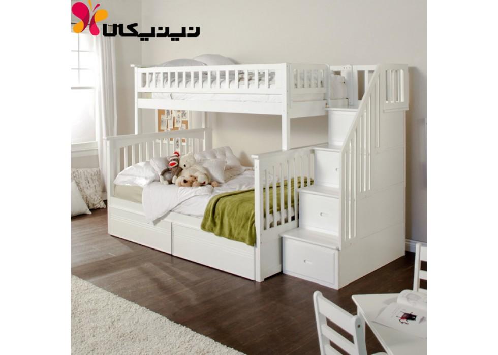 تخت دو طبقه آمیسا مدل وانیا